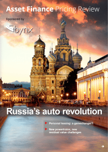 Screen shot of the cover of Bynx Asset Finance Pricing Review - Russia Dec 2019
